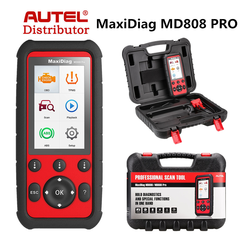 2017 autel maxidiag md808 pro obd2 scanner combination of