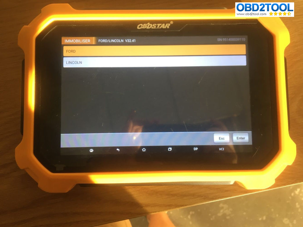 How to program key on 2017 Ford with OBDSTAR X300 DP PLUS