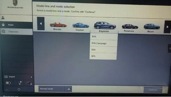 Allscanner Vxdiag Vcx Doip Porsche Tester Piwis 3 Car List