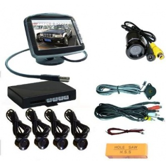 "Video Parking Sensor With Camera and 3.5"" TFT Monitor"