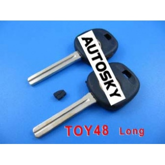 Lexus transponder key shell TOY48 (long)