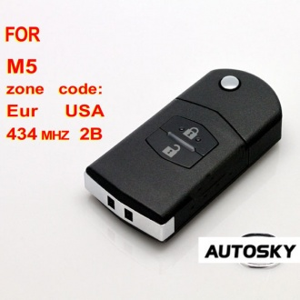 Mazda M5 flip remote key 2 button 434MHZ