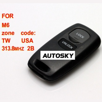 Mazda M6 remote key 2 button 313.8MHZ