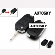 Citroen modified flip remote key shell 2 button
