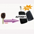 Citroen modified flip remote key shell 2 button HU83