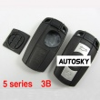 Bmw 5 series smart key shell 3 button with key blade