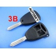 Chrysler remote key shell 3 button