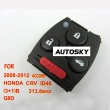 Honda CRV ,Accord remote 313.8mhzID46 3+1 button G8D ( 2008-2012) for HK, MALAYSIA, USA, Taiwan