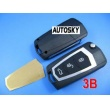 KIA new Carens modified remote key shell 3 button (with battery metal )