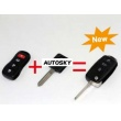 Nissan remote key (3 +1) 4 button