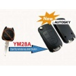 Opel modified filp remote key shell 3 button (YM28...