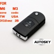 Mazda M6 M3 flip remote key 2 button 313.8MHZ (with 4D63)