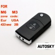 Mazda M6 M3 flip remote key 2 button 433MHZ (with 4D63)