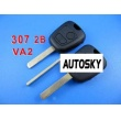 peugeot remote key 2 button434 MHZ (307 without groove)