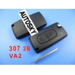 peugeot remote key 2 button mhz 433 (307 without groove)
