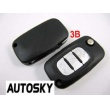 Renault remote flip key shell 3 button