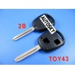 toyota key shell 2 button TOY43