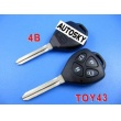toyota camry remote key shell 4 button-band open a door button