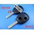 toyota key shell 2 button TOY48(short)