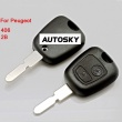 peugeot 406 remote key shell 2 button (without logo)