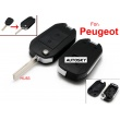 peugeot modified flip remote key shell 2 button HU83