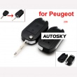 peugeot modified flip remote key shell 2 button 206