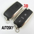 vw skoda modifiled flip remote key shell 3 button