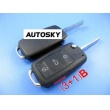 VW touareg remote key shell (3+1) button