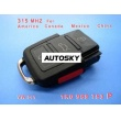 VW 3+1 Remote 1 KO 959 753 P 315Mhz For America Canada Mexico China
