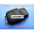 VW 3B Remote 1 KO 959 753 G 434Mhz For Europe South America