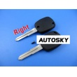 mitsubishi 4D duplicable key shell with right