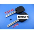 toyota 4D duplicable key shell toy48 (long)