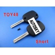 lexus 4D duplicable key toy48 (short) with groove