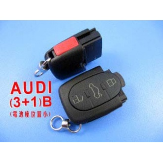 Audi remote shell 3+1 button