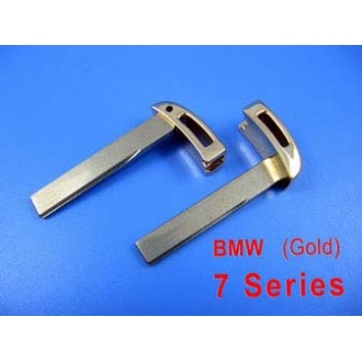 BMW smart key blade 7 series (gold color)