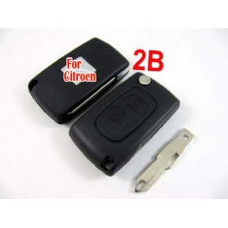 Citroen modified flip remote key shell 2 button VA3L