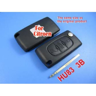 citroen remote key shell 3 button (with groove)