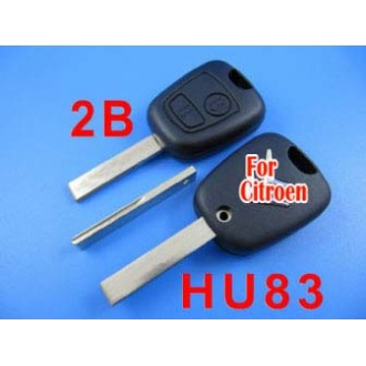 citroen remote key shell 2 button (with groove)