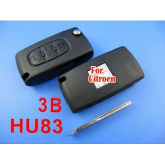 citroen remote key 3 button 433MHZ( with groove)
