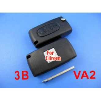 citroen remote key 3 button 433MHZ( without groove)