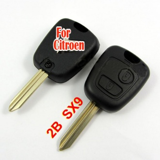 Citroen remote key shell 2 button