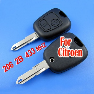 Citroen C2 remote key 2 button 433MHZ