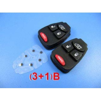 Chrysler 4 button rubber