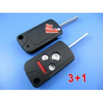 honda accord flip remote key shell 3+1 button