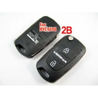 Hyundai Verna modified flip remote key shell 2 button