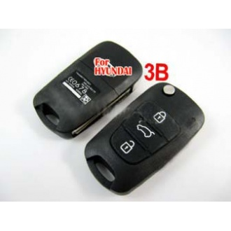 Hyundai I30 IX35 modified flip remote key shell 3 button