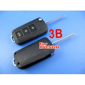 hyundai Sonata NF flip remote key shell 3 button