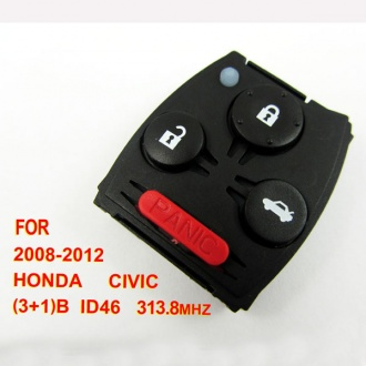 Honda Civic remote 313.8mhz ID46 3+1 button (2008-2012)