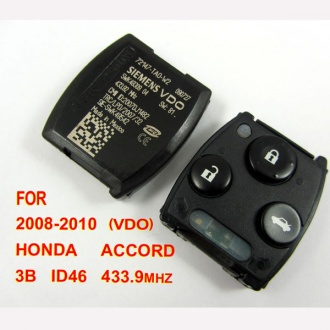 Honda Accord remote 3 button 433.9MHZ VDO (2008-2010)for Europe, Middle East