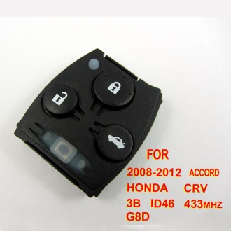 Honda CRV ,Accord remote 433mhz ID46 3 button G8D ( 2008-2012)for Europe